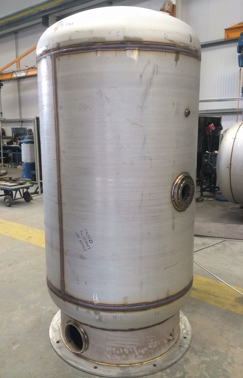 Air Receivers for Nuclear Industry CPE Pressure Vessels Air Receiver Nuclear Application Stainless Steel-304-PD5500-Skirt (4)
