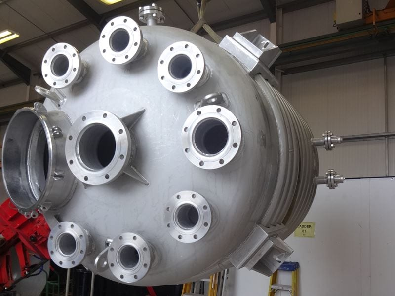 Reactor Vessel With Limpet Coil Jacket Pressure Vessel Stainless Steel CPE-316-reactor-vessel