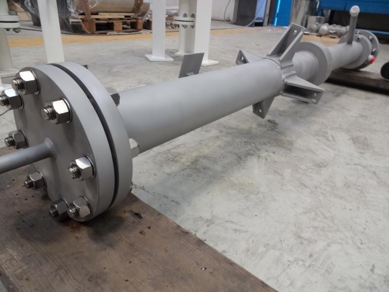 saturator-vessel-assembly-pipework-stainless steel-316