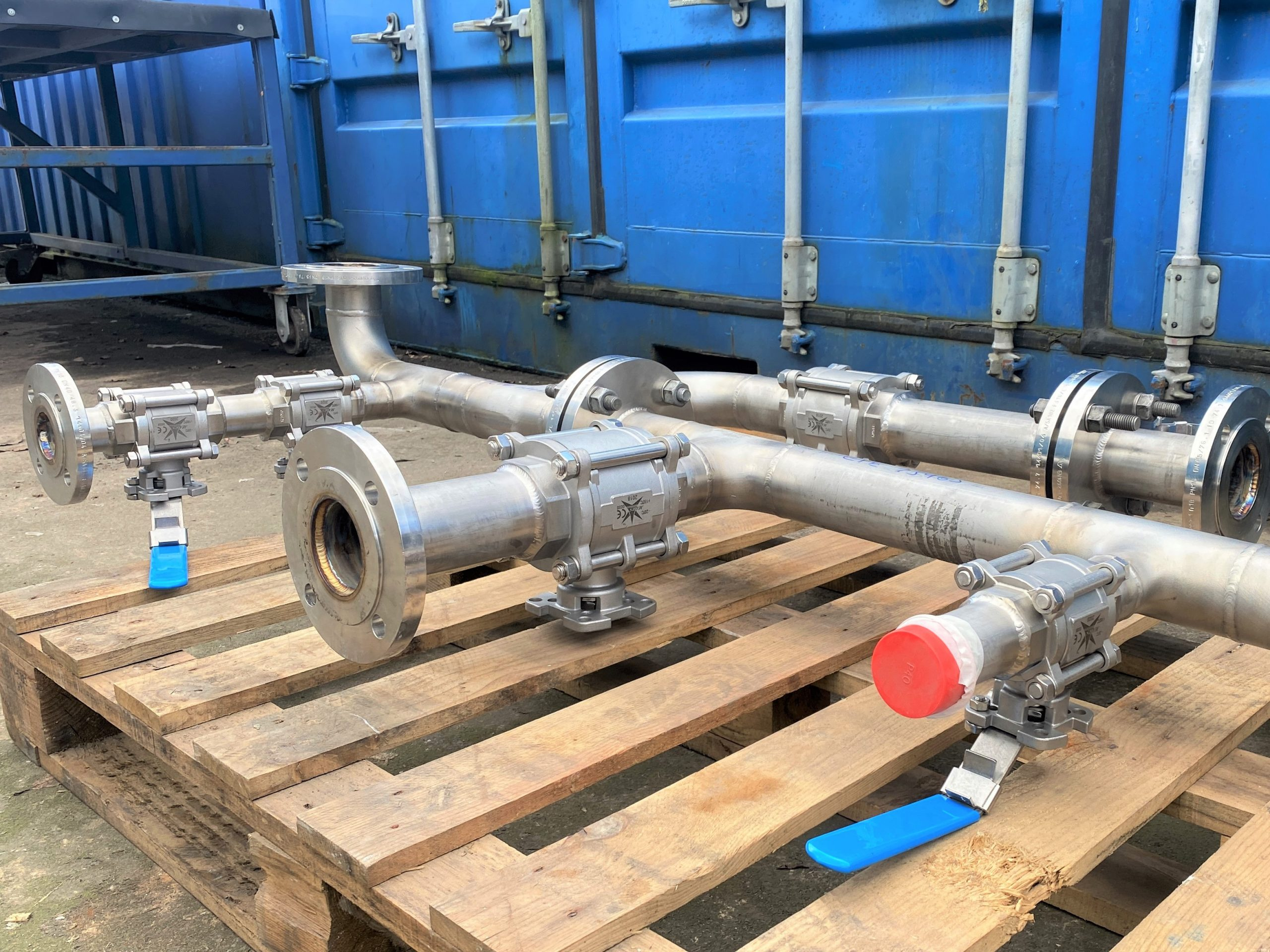 UK Water Treatment Pipework system made from Stainless Steel 316/L